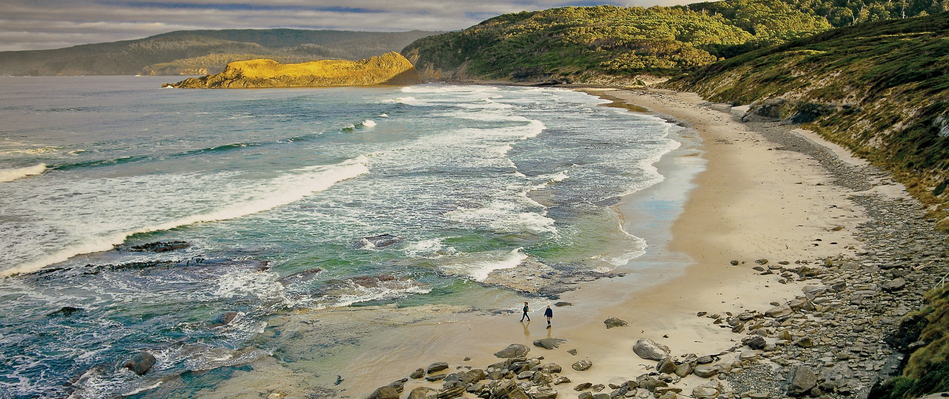 South Cape Bay Walk begins at Cockle Creek Recherche Bay